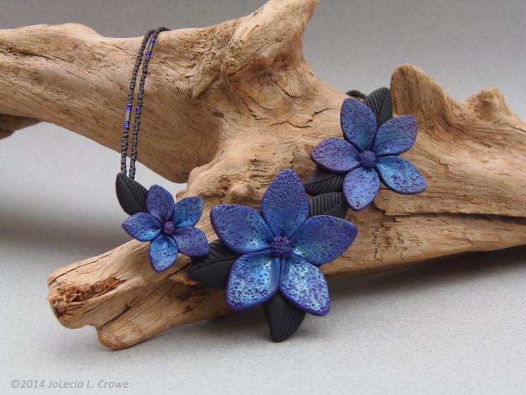 Blue Flowers - custom order