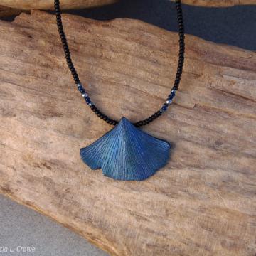 Metallic blue ginkgo