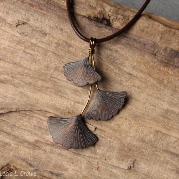 Metallic bronze ginkgo