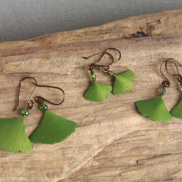 Sprink ginkgo earrings series