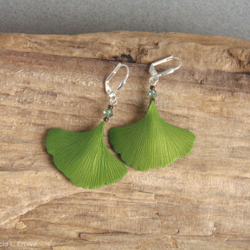 Spring ginkgo earrings series